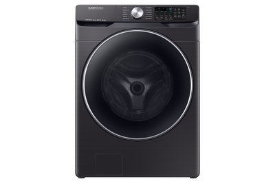 Samsung 5.2 Cu. Ft. Smart Front-Load Washer - WF45R6300AV/US - Washer in Fingerprint Resistant Black Stainless Steel
