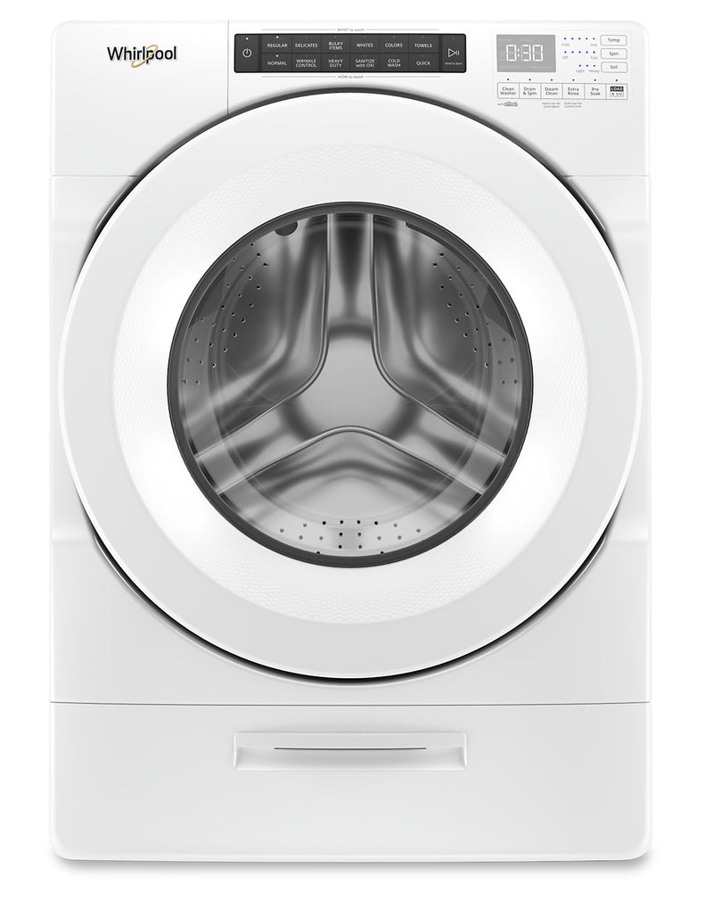 Whirlpool 5.2 Cu. Ft. Closet-Depth Front-Load Washer with Load & Go Dispenser – WFW5620HW | Laveuse frontale Whirlpool profondeur placard de 5,2 pi3 avec distributeur Load & Go - WFW5620HW