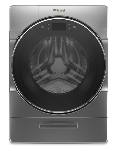 Whirlpool 5.8 Cu. Ft. Smart Front-Load Washer with Load & Go XL Plus Dispenser – WFW9620HC - Washer in Chrome Shadow