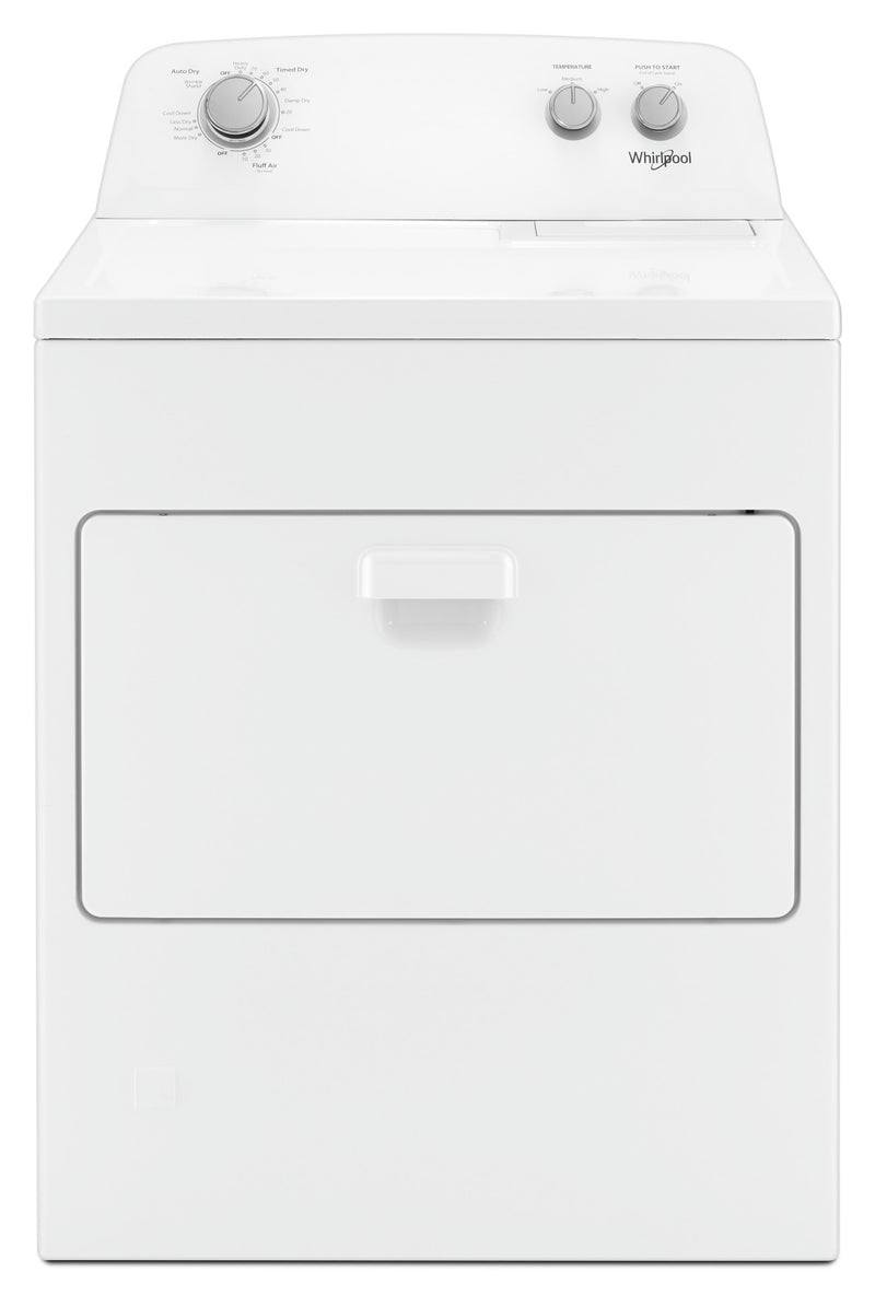 Whirlpool® 7.0 cu. ft. Top Load Gas Dryer with AutoDry™ Drying System|Sécheuse à gaz Whirlpool de 7,0 pi3 - WGD4850HW
