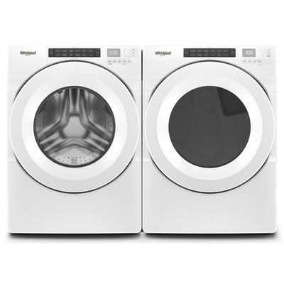 Whirlpool 5.0 Cu. Ft. Front-Load Washer and 7.4 Cu. Ft. Front-Load Dryer - White|Laveuse à chargement frontal 5,0 pi³ et sécheuse à chargement frontal 7,4 pi³ de Whirlpool - blanches|WHFL560A