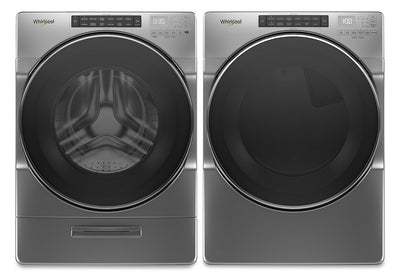 Whirlpool 5.2 Cu. Ft. Closet-Depth Front-Load Washer and 7.4 Cu. Ft. Gas Dryer with Intuitive Touch Controls