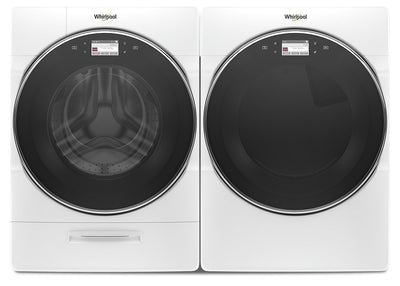 Whirlpool 5.8 Cu. Ft. Smart Front-Load Washer and 7.4 Cu. Ft. Smart Front-Load Dryer - White