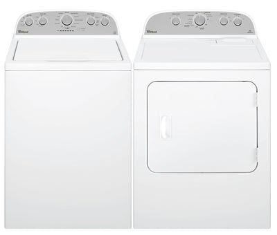 Whirlpool Cabrio® 5.0 Cu. Ft. Top-Load Washer and 7.0 Cu. Ft. Dryer – White - Laundry Set with High-Efficiency in White