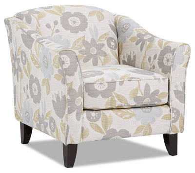 Willa Fabric Accent Chair - Blossom Bliss|Fauteuil d'appoint Willa en tissu - joie fleurie|WILLBBAC