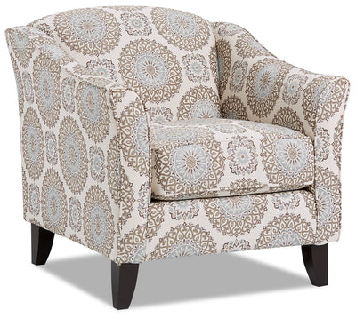 Willa Fabric Accent Chair - Brianne Twilight|Fauteuil d'appoint Willa en tissu - Brianne crépuscule|WILLBTAC