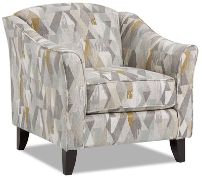 Willa Fabric Accent Chair - Flipside Spring|Fauteuil d'appoint Willa en tissu - revers printanier|WILLFSAC