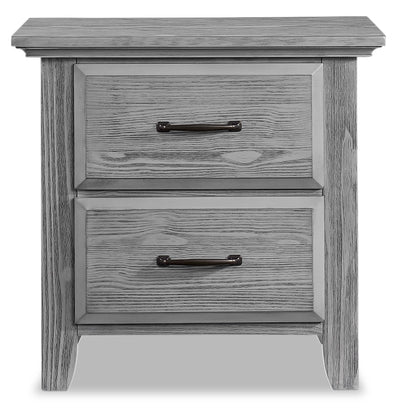 Willowbrook Nightstand - {Traditional} style Nightstand in Graphite Grey {Solid Woods}