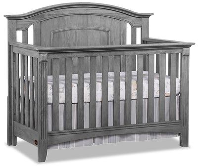 Willowbrook 4-in-1 Convertible Crib - {Traditional} style Crib in Graphite Grey {Solid Woods}