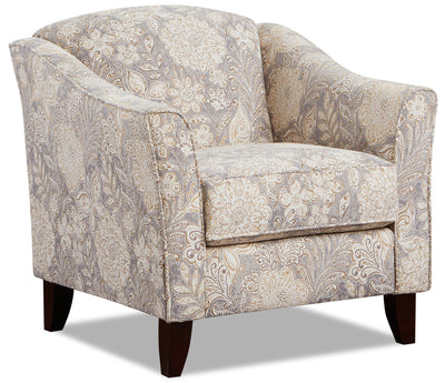 Willa Fabric Accent Chair - Madelena Morning Dew|Fauteuil d'appoint Willa en tissu - Madelena rosée matinale|WILLMDAC