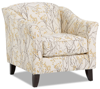 Willa Fabric Accent Chair - Myla Marigold|Fauteuil d'appoint Willa en tissu - Myla souci|WILLMMAC