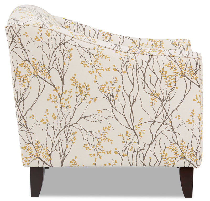 Dimensions Myla Marigold Accent Chair: Willa Fabric Accent Chair - Myla Marigold