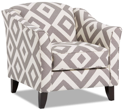 Willa Fabric Accent Chair - Square Charcoal