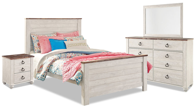 Willowton 6-Piece Full Bedroom Package|Ensemble de chambre à coucher Willowton 6 pièces avec lit double|WILLWFP6