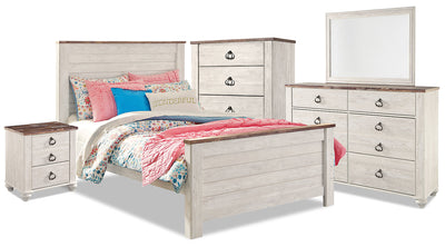Willowton 7-Piece Full Bedroom Package|Ensemble de chambre à coucher Willowton 7 pièces avec lit double|WILLWFP7