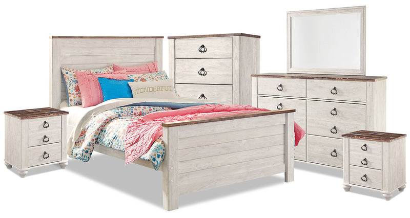Willowton 8-Piece Full Bedroom Package|Ensemble de chambre à coucher Willowton 8 pièces avec lit double|WILLWFP8