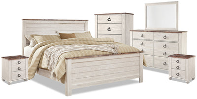 Willowton 8-Piece King Bedroom Package|Ensemble de chambre à coucher Willowton 8 pièces avec très grand lit|WILLWKP8
