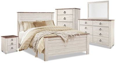 Willowton 7-Piece Queen Bedroom Package|Ensemble de chambre à coucher Willowton 7 pièces avec grand lit|WILLWQP7