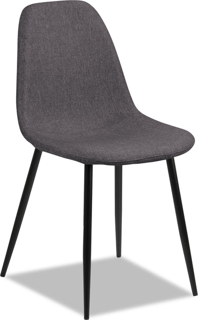 Wilma Dining Chair – Grey - Modern style Dining Chair in Grey Metal and Polyester