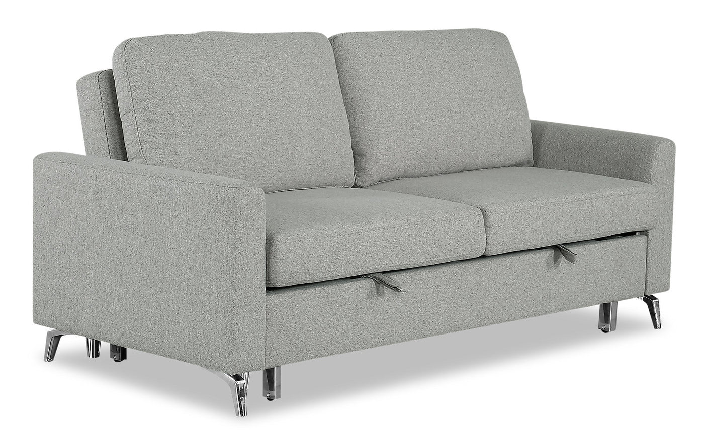 Wilson Linen-Look Fabric Sleeper Sofa - Solis Grey