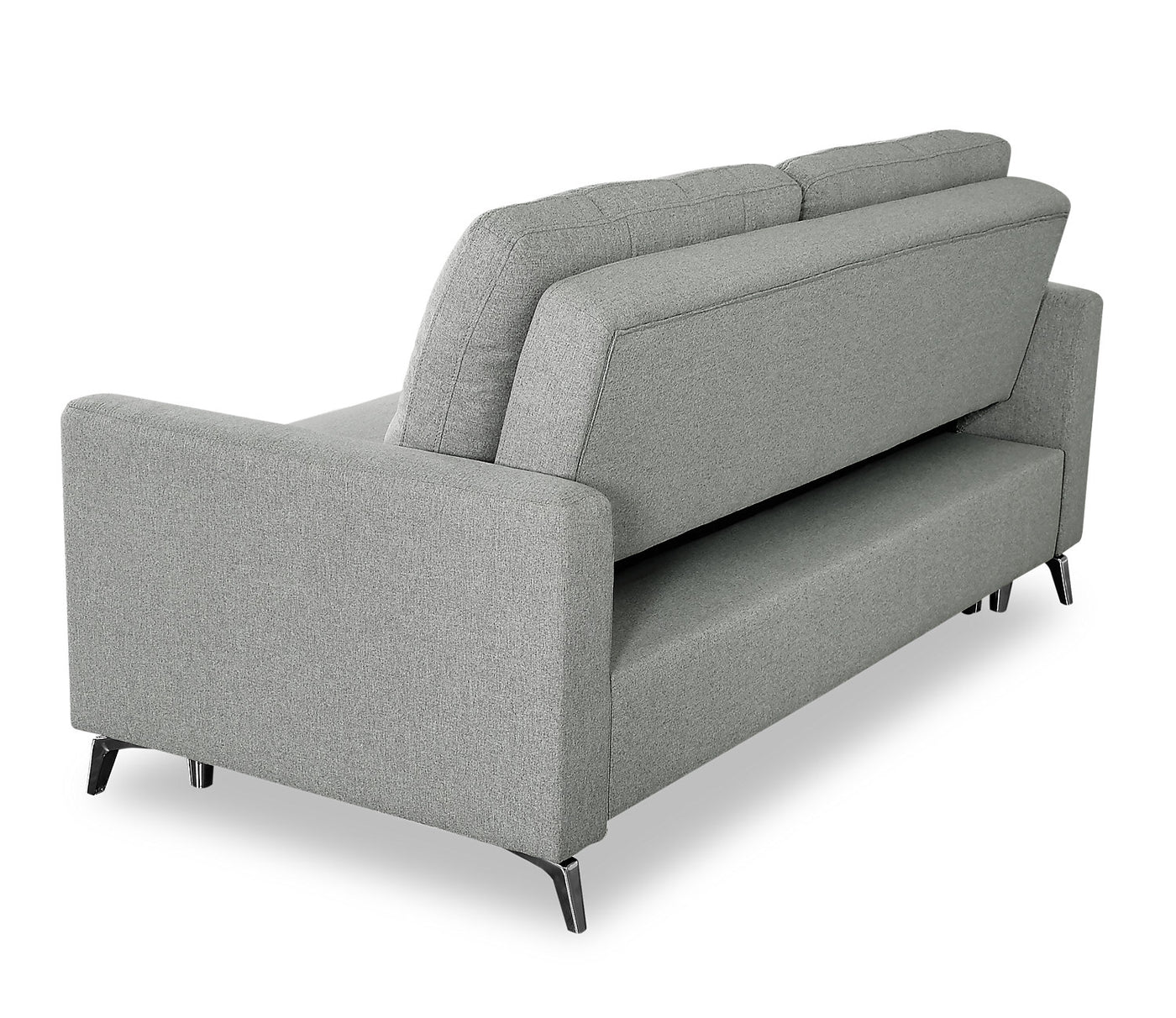 Marvelous Wilson Linen Look Fabric Sleeper Sofa Solis Grey Pabps2019 Chair Design Images Pabps2019Com