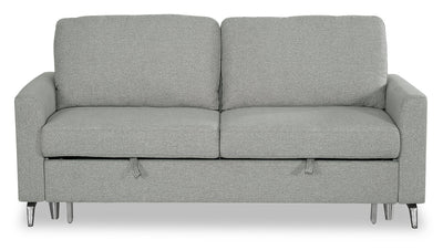 Wilson Linen-Look Fabric Sleeper Sofa - Solis Grey - {Modern} style Sleeper Sofa in Solis Grey {Solid Woods}, {Plywood}