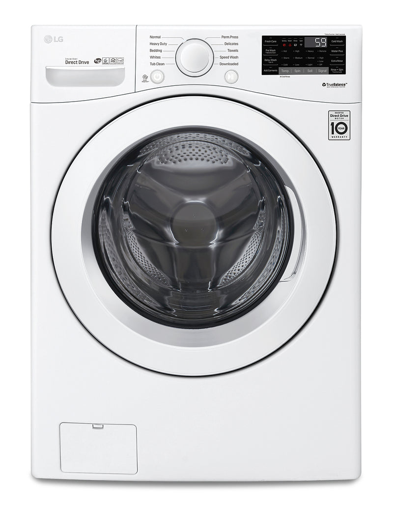 LG 5.2 Cu. Ft. Ultra-Large High Efficiency Front-Load Washer - WM3090CW - Washer in White