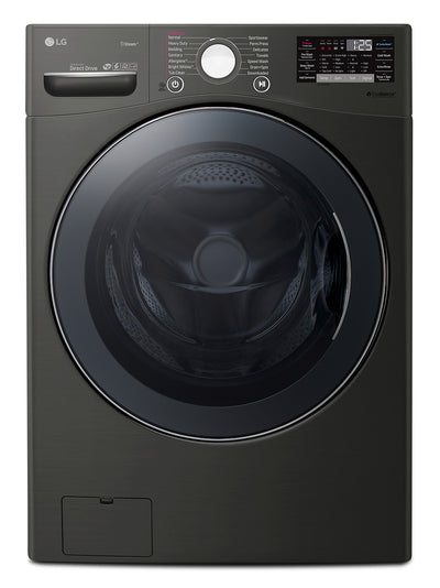 LG 5.2 Cu. Ft. Ultra-Large Capacity Washer with NeveRust™ Stainless Steel Drum - WM3800HBA  - Washer in Black Steel