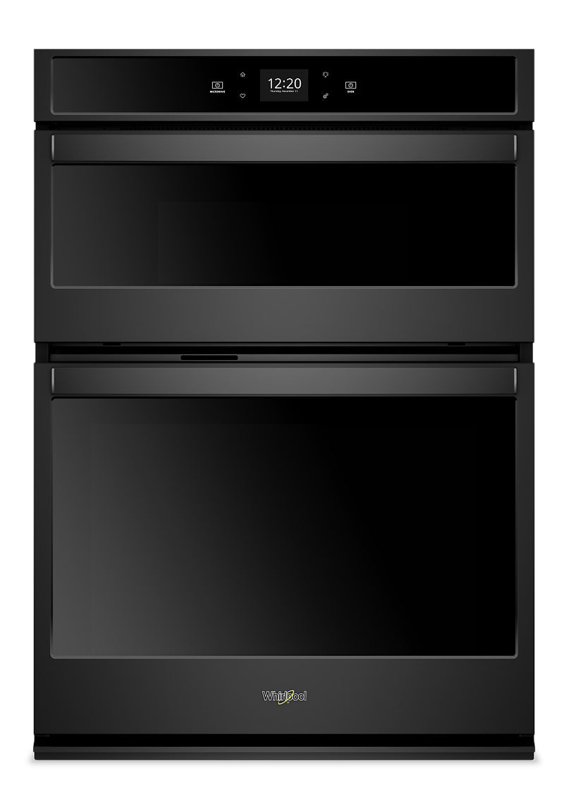 Whirlpool 6.4 Cu. Ft. Smart Combination Wall Oven - WOC54EC0HB - Double Wall Oven in Black