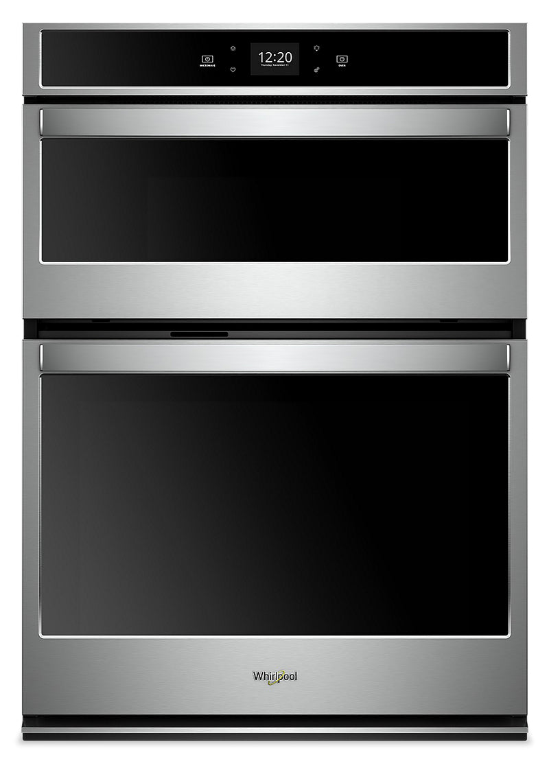 Whirlpool 6.4 Cu. Ft. Smart Combination Wall Oven - WOC54EC0HS|Four mural combiné intelligent Whirlpool de 6,4 pi3 - WOC54EC0HS|WOC540HS
