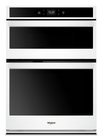 Whirlpool 6.4 Cu. Ft. Smart Combination Wall Oven - WOC54EC0HW|Four mural combiné intelligent Whirlpool de 6,4 pi3 - WOC54EC0HW|WOC540HW