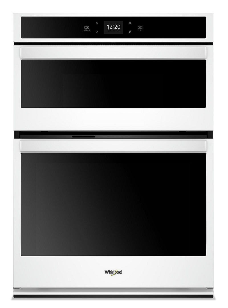 Whirlpool 6.4 Cu. Ft. Smart Combination Wall Oven - WOC54EC0HW|Four mural combiné intelligent Whirlpool de 6,4 pi3 - WOC54EC0HW