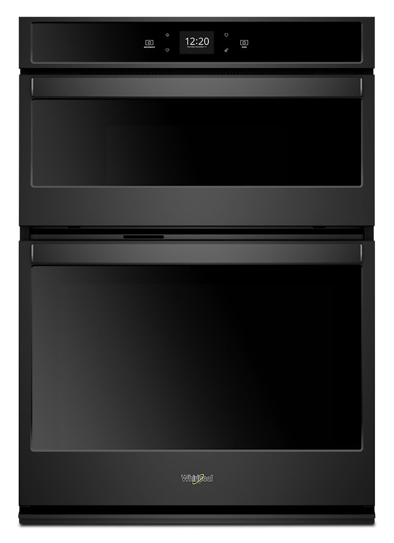 Whirlpool 5.7 Cu. Ft. Smart Combination Wall Oven - WOC54EC7HB - Double Wall Oven in Black