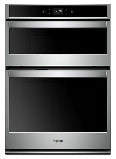 Whirlpool 5.7 Cu. Ft. Smart Combination Wall Oven - WOC54EC7HS|Four mural combiné intelligent Whirlpool de 5,7 pi3 - WOC54EC7HS|WOC547HS