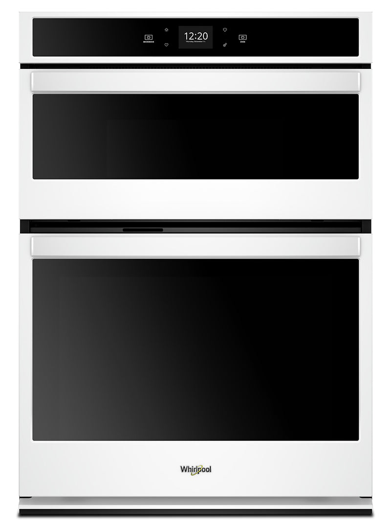 Whirlpool 5.7 Cu. Ft. Smart Combination Wall Oven - WOC54EC7HW - Double Wall Oven in White