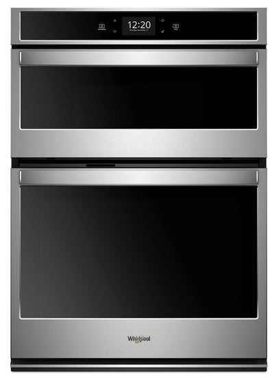 Whirlpool 6.4 Cu. Ft. Smart Combination Wall Oven - WOC75EC0HS|Four mural combiné intelligent Whirlpool de 6,4 pi3 - WOC75EC0HS|WOC7530S