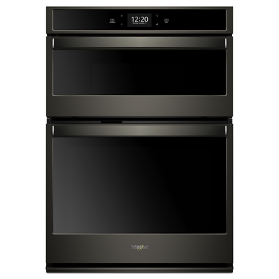 Whirlpool 6.4 Cu. Ft. Smart Combination Wall Oven - WOC75EC0HV - Double Wall Oven with Child Lock in Black Stainless Steel