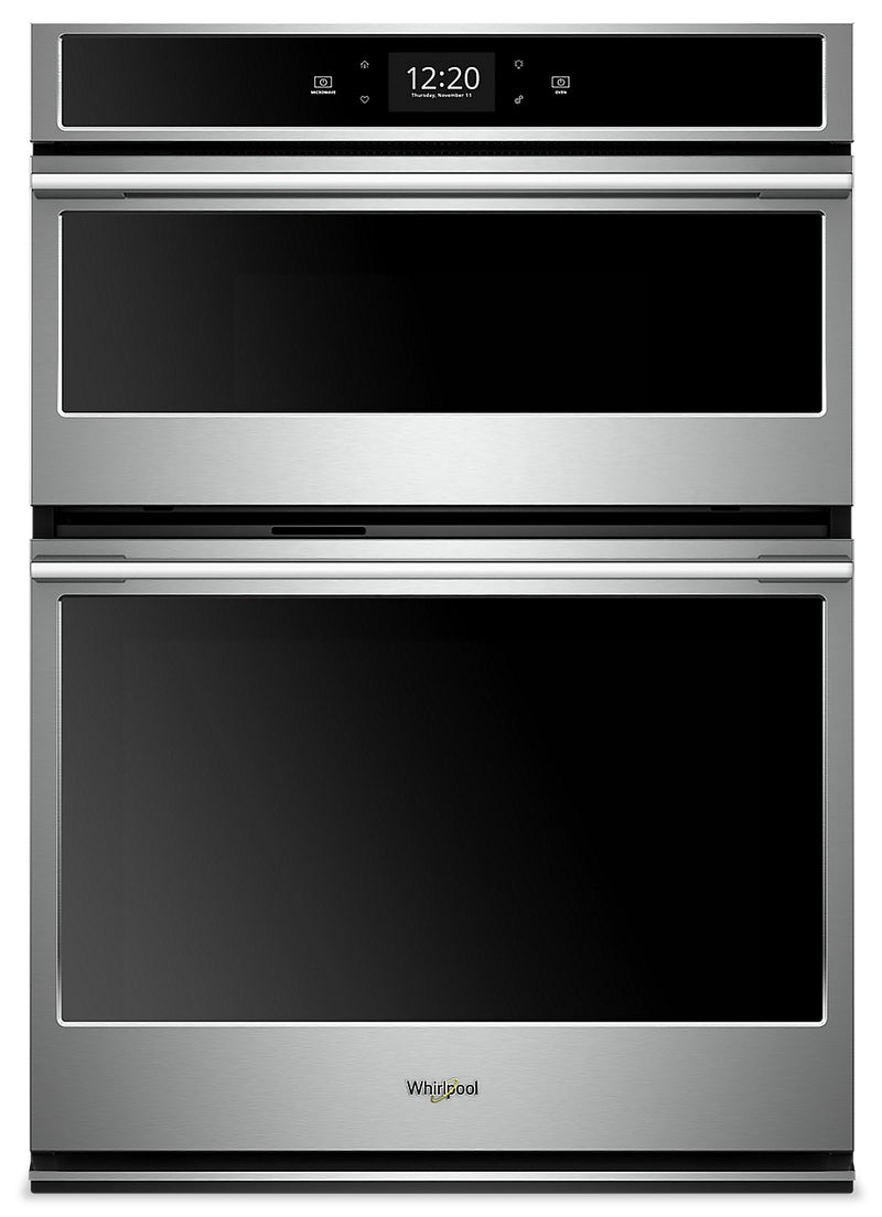 Whirlpool 6.4 Cu. Ft. Smart Combination Wall Oven - WOCA7EC0HZ|Four mural combiné intelligent Whirlpool de 6,4 pi3 - WOCA7EC0HZ