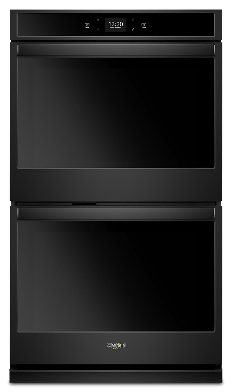 Whirlpool 8.6 Cu. Ft. Smart Double Wall Oven - WOD51EC7HB|Four mural double intelligent Whirlpool de 8,6 pi3 - WOD51EC7HB|WOD517HB