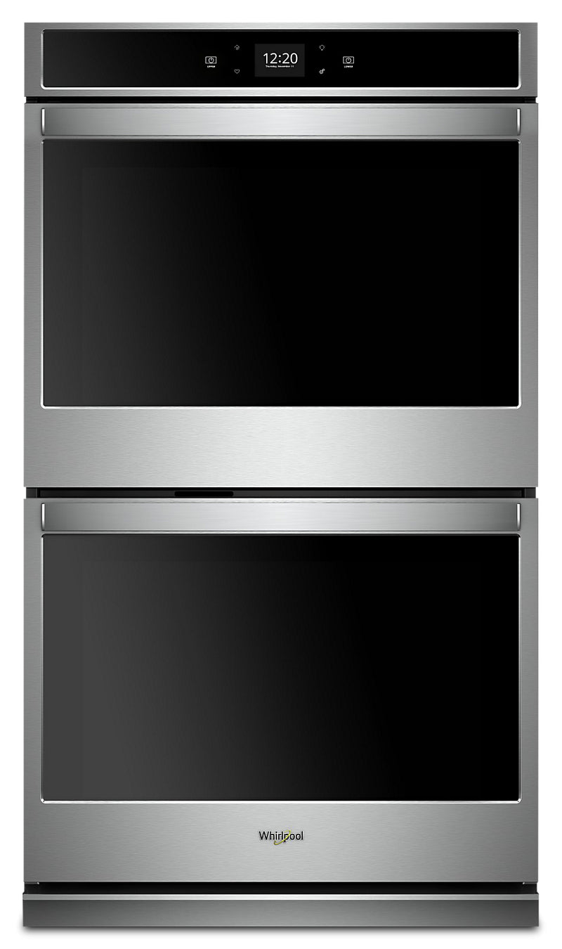 Whirlpool 8.6 Cu. Ft. Smart Double Wall Oven - WOD51EC7HS|Four mural double intelligent Whirlpool de 8,6 pi3 - WOD51EC7HS|WOD517HS