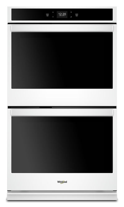 Whirlpool 8.6 Cu. Ft. Smart Double Wall Oven - WOD51EC7HW|Four mural double intelligent Whirlpool de 8,6 pi3 - WOD51EC7HW|WOD517HW