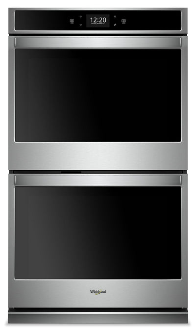 Whirlpool 8.6  Cu. Ft. Smart Double Wall Oven - WOD77EC7HS|Four mural double intelligent Whirlpool de 8,6 pi3 - WOD77EC7HS|WOD777HS