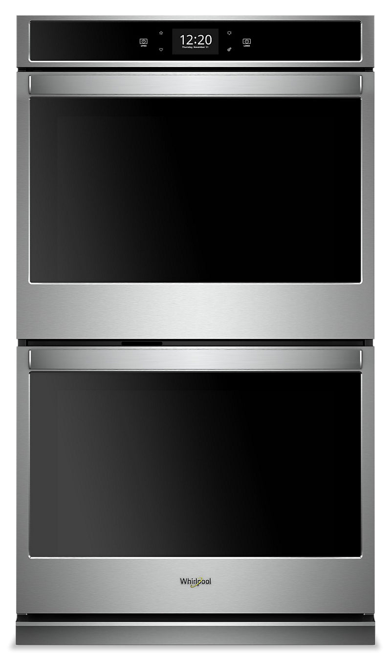 Whirlpool 8.6  Cu. Ft. Smart Double Wall Oven - WOD77EC7HS|Four mural double intelligent Whirlpool de 8,6 pi3 - WOD77EC7HS
