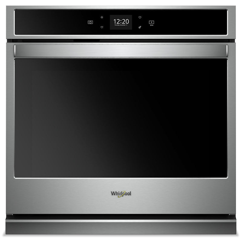 Whirlpool 4.3 Cu. Ft. Smart Single Wall Oven - WOS51EC7HS|Four mural simple intelligent Whirlpool de 4,3 pi3 - WOS51EC7HS|WOS517HS