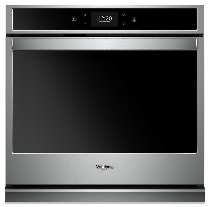 Whirlpool 4.3 Cu. Ft. Smart Single Wall Oven - WOS72EC7HS|Four mural simple intelligent Whirlpool de 4,3 pi3 - WOS72EC7HS|WOS727HS