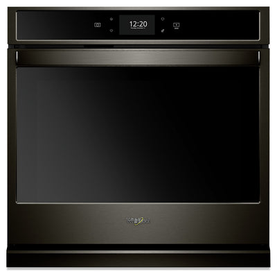 Whirlpool 4.3 Cu. Ft. Smart Single Wall Oven - WOS72EC7HV - Electric Wall Oven in Fingerprint Resistant Black Stainless Steel
