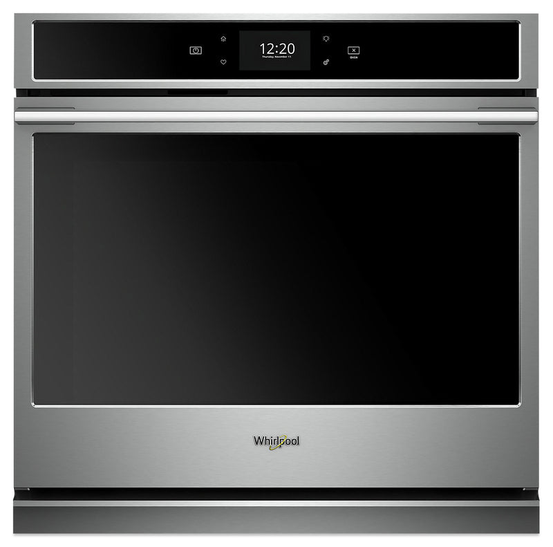 Whirlpool 5.0 Cu. Ft. Smart Single Wall Oven with True Convection Cooking - WOSA2EC0HZ|Four mural simple intelligent Whirlpool 5,0 pi3 avec cuisson par convection véritable - WOSA2EC0HZ