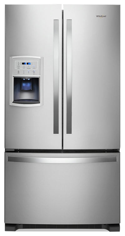 Whirlpool 20 Cu. Ft. Counter-Depth French-Door Refrigerator - WRF550CDHZ - Refrigerator in Stainless Steel