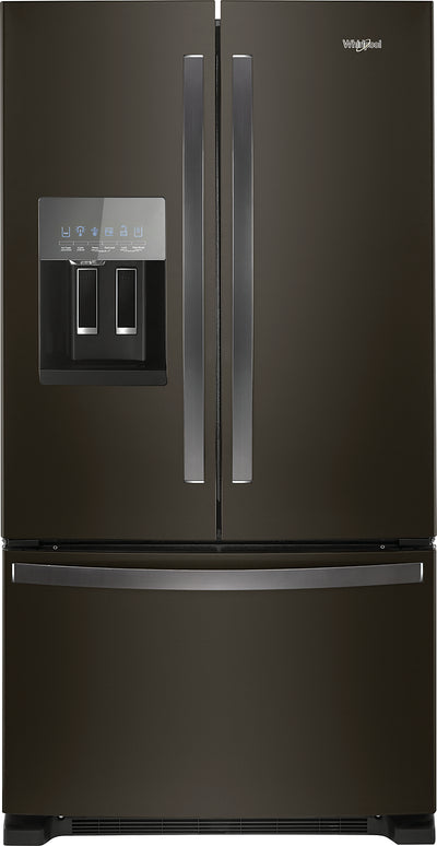 Whirlpool 25 Cu. Ft. French-Door Refrigerator in Fingerprint-Resistant Stainless Steel – WRF555SDHV - Refrigerator in Black Stainless Steel