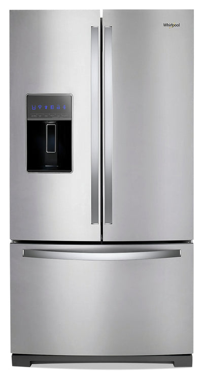 Whirlpool 27 Cu. Ft. Wide French-Door Fingerprint-Resistant Refrigerator - WRF767SDHZ - Refrigerator in Fingerprint Resistant Stainless Steel